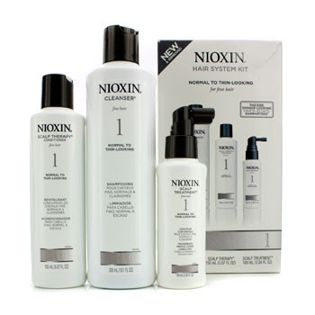 System-1-System-Kit-For-Fine-Hair-Normal-to-Thin-Looking-Hair-(Box-Slightly-Damaged)-Nioxin