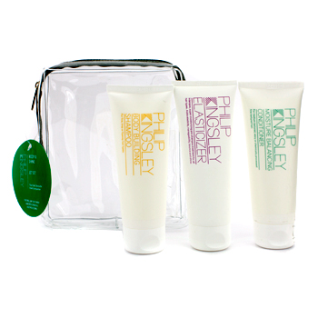 Body & Shine Jet Set: Shampoo + Conditioner + Elasticizer Philip Kingsley Image