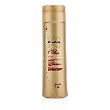 Kerasilk-Ultra-Rich-Keratin-Care-Shampoo---Smoothing-Transformation-(For-Extremely-Unmanageable-and-Damaged-Hair)-Goldwell