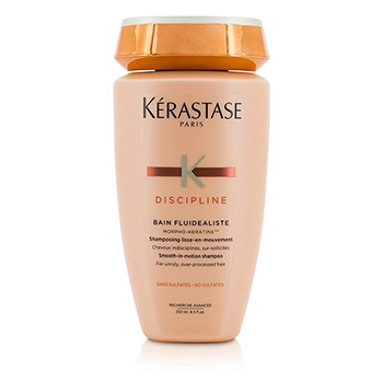 Discipline-Bain-Fluidealiste-Smooth-In-Motion-Sulfate-Free-Shampoo---For-Unruly-Over-Processed-Hair-(New-Packaging)-Kerastase