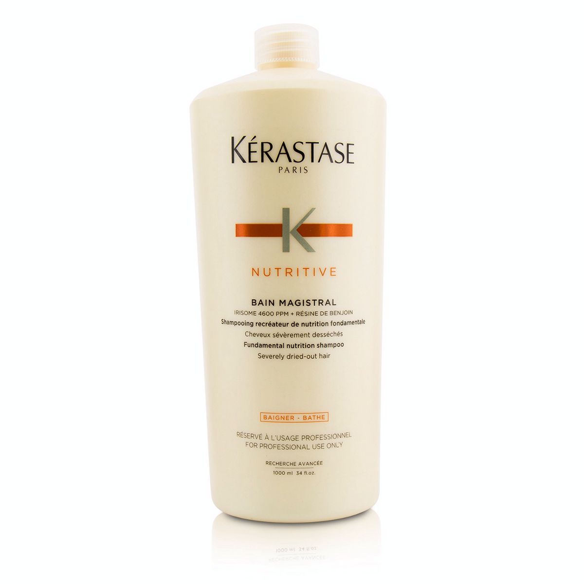 Nutritive Bain Magistral Fundamental Nutrition Shampoo (Severely Dried-Out Hair)  1000ml/33.8oz
