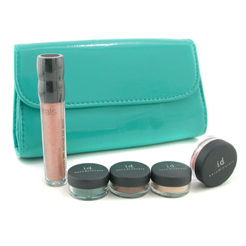 BareMinerals Free To Be Naturally Adventurous Collection Liner Shadow plus 2x Eye Color plus Blush plus Lip Gloss plus Bag 5pcsplus1bag