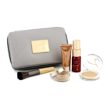 Starter-Kit-(6-Pieces):-1xPrimer-and-Brighter-1xLoose-Mineral-Powder-1xMineral-Foundation-...---#-Medium-Dark-Jane-Iredale