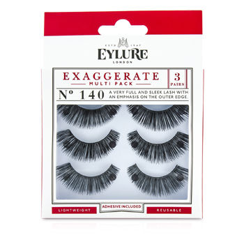 Exaggerate-False-Lashes-Multipack---140-Black-(Adhesive-Included)-Eylure