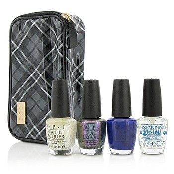 Plaid-About-You-Set:-3x-Nail-Lacquers-1x-Base-Coat-1x-Case-O.P.I