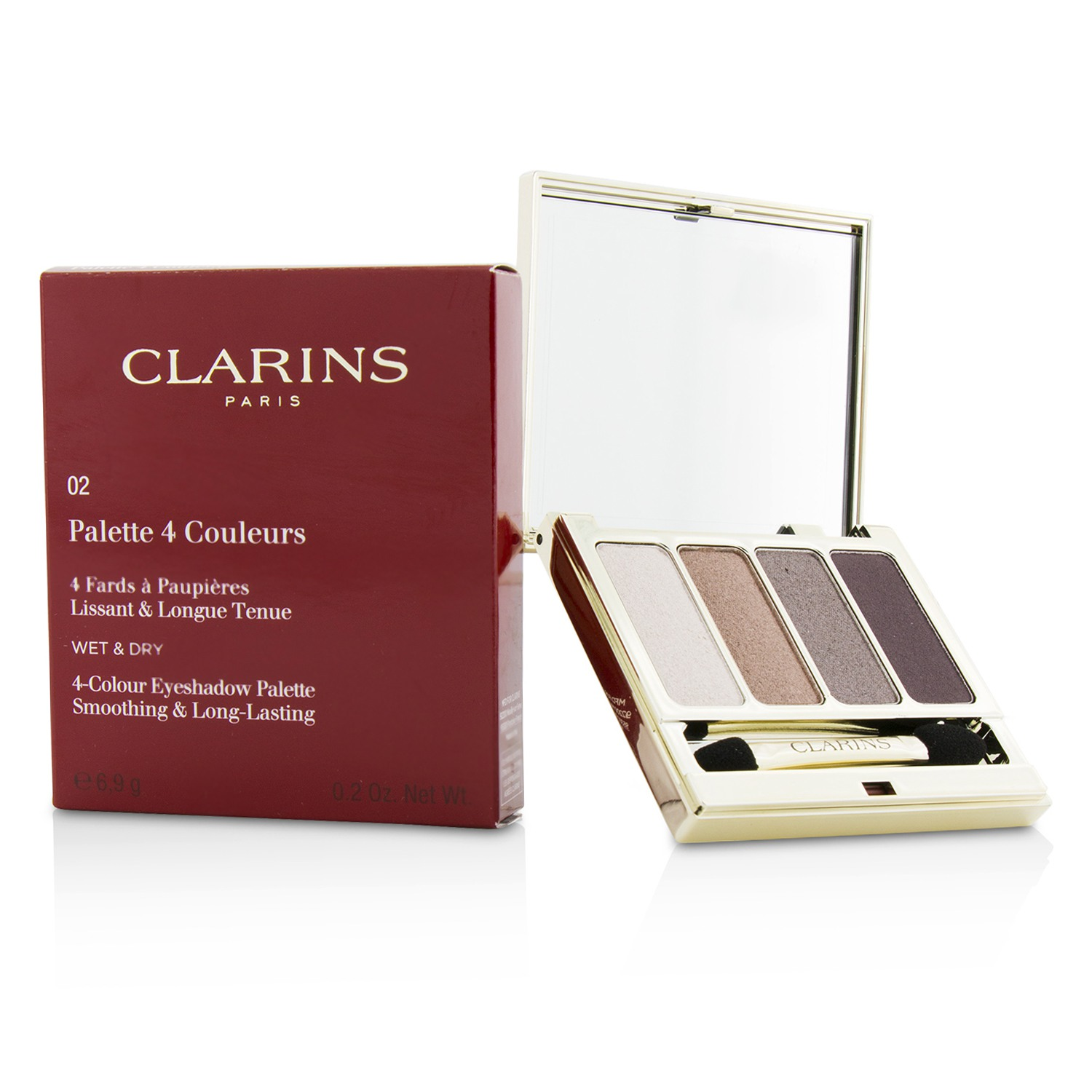 4 Colour Eyeshadow Palette (Smoothing & Long Lasting) - #02 Rosewood Clarins Image