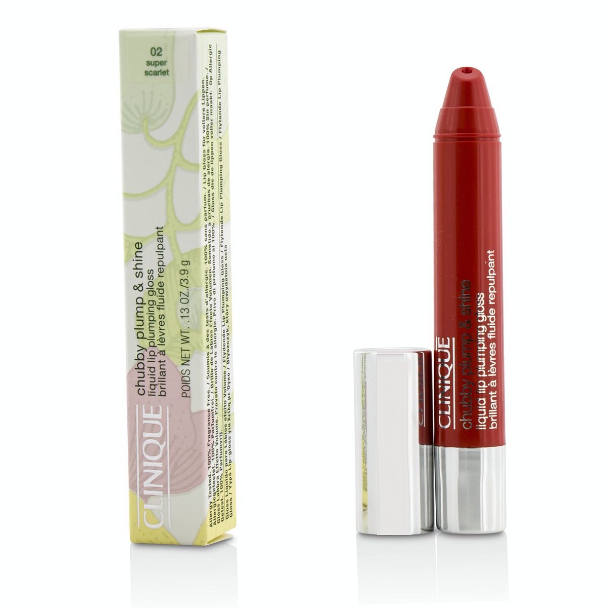 Chubby Plump  Shine Liquid Lip Plumping Gloss - #02 Super Scarlet Clinique Image