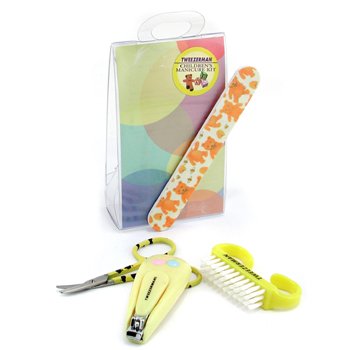 Childrens-Care-Kit:-Baby-Nail-Clipper--Baby-Nail-File--Nail-Brush--Baby-Nail-Scissors-Tweezerman