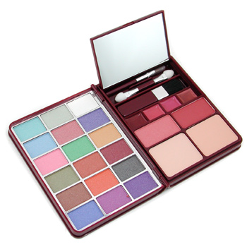 MakeUp-Kit-G0139-2-:-18x-Eyeshadow-2x-Blusher-2x-Pressed-Powder-4x-Lipgloss-Cameleon