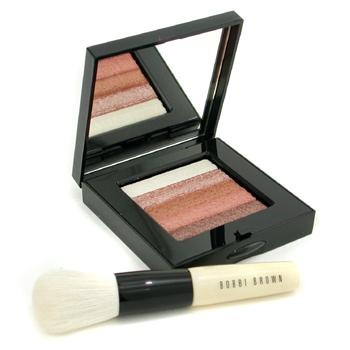 Bronze-Shimmer-Brick-Set:-Bronze-Shimmer-Brick-Compact---Mini-Face-Blender-Brush-(-Limited-Edition-)-Bobbi-Brown