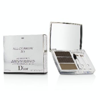 All-In-Brow-3D-Long-Wear-Brow-Contour-Kit-(2x-Eyebrow-Powder-1x-Eyebrow-Wax-3x-Mini-Applicator)---#-001-Brown-Christian-Dior