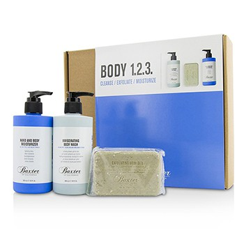 Body-1.2.3-Kit:-Body-Wash-300ml---Hand-and-Body-Moisturizer-300ml---Body-Bar-198g-Baxter-Of-California