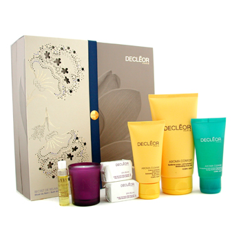Bath Ritual Coffret: Body Milk + Bath Gel + Body Cream + Body Serum + 2x Bath Pebbles + Candle