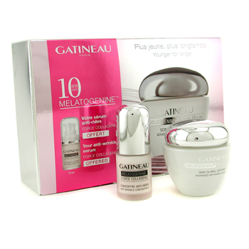 10th Anniversary Set: Melatogenine Futur Plus Cream 50ml/1.7oz + Melatogenine Force Collagene Serum 15ml/0.5oz Gatineau Image