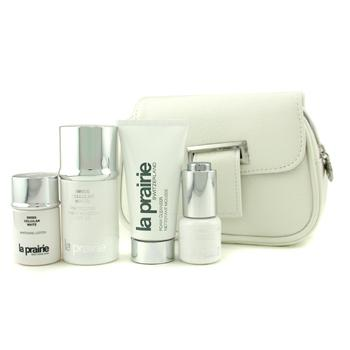 Swiss Cellular White Travel Essential Kit: Day Emulsion + Cleanser + Lotion + Eye Essence