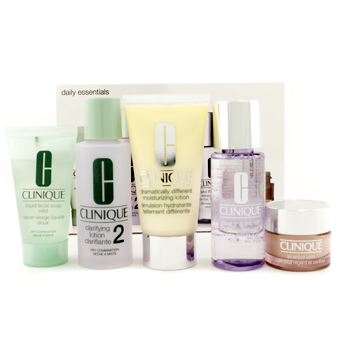Clinique Daily Essentials Set ( Dry Combination Skin ): Clarifying Lotion 2 + Makeup Remover + DDML + Facial Soap + Eyes  78C0 5pcs at Sears.com