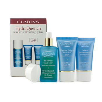 HydraQuench Moisture Replenishing System: Intensive Serum + Cream 15ml + Cream-Mask 15ml