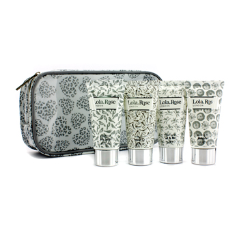 Lola Rose Energising Rock Crystal Travel Set: Shower Gel + Body Lotion + Hand   Nail Cream + Bubble Bath + Bag 4pcs+1bag at Sears.com