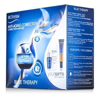 Blue-Therapy-Set:-Cream-50ml---Cleansing-Water-30ml---Serum-7ml---Serum-In-Oil-10ml---Body-Milk-10ml-Biotherm