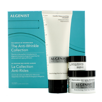 The-Anti-Wrinkle-Collection:-Gentle-Rejuvenating-Cleanser-120ml---Regenerative-Anti-Aging-Moisturizer-30ml---Eye-Balm-7ml-Algenist