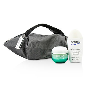 Aquasource-and-Body-Care-X-Mandarina-Duck-Coffret:-Cream-N-C-50ml---Anti-Drying-Body-Care-100ml---Handle-Bag-Biotherm