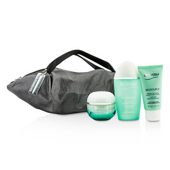 Aquasource-X-Mandarina-Duck-Coffret:-Cream-N-C-50ml---Biosource-FoamCleanser-50ml---Biosource-ToningLotion-100ml---Handle-Bag-Biotherm