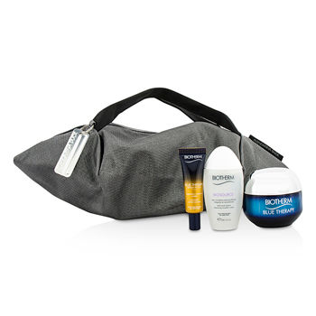 Blue-Therapy-X-Mandarina-Duck-Coffret:-Cream-SPF15-N-C-50ml---Serum-In-Oil-10ml---Cleansing-Water-30ml---Handle-Bag-Biotherm