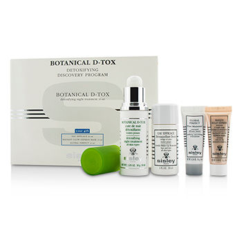 Botanical-D-Tox-Detoxifying-Discovery-Program:-Botanical-D-Tox-30ml---Make-Up-Remover-30ml---Mask-10ml---Pore-Minimizer-10ml-Sisley
