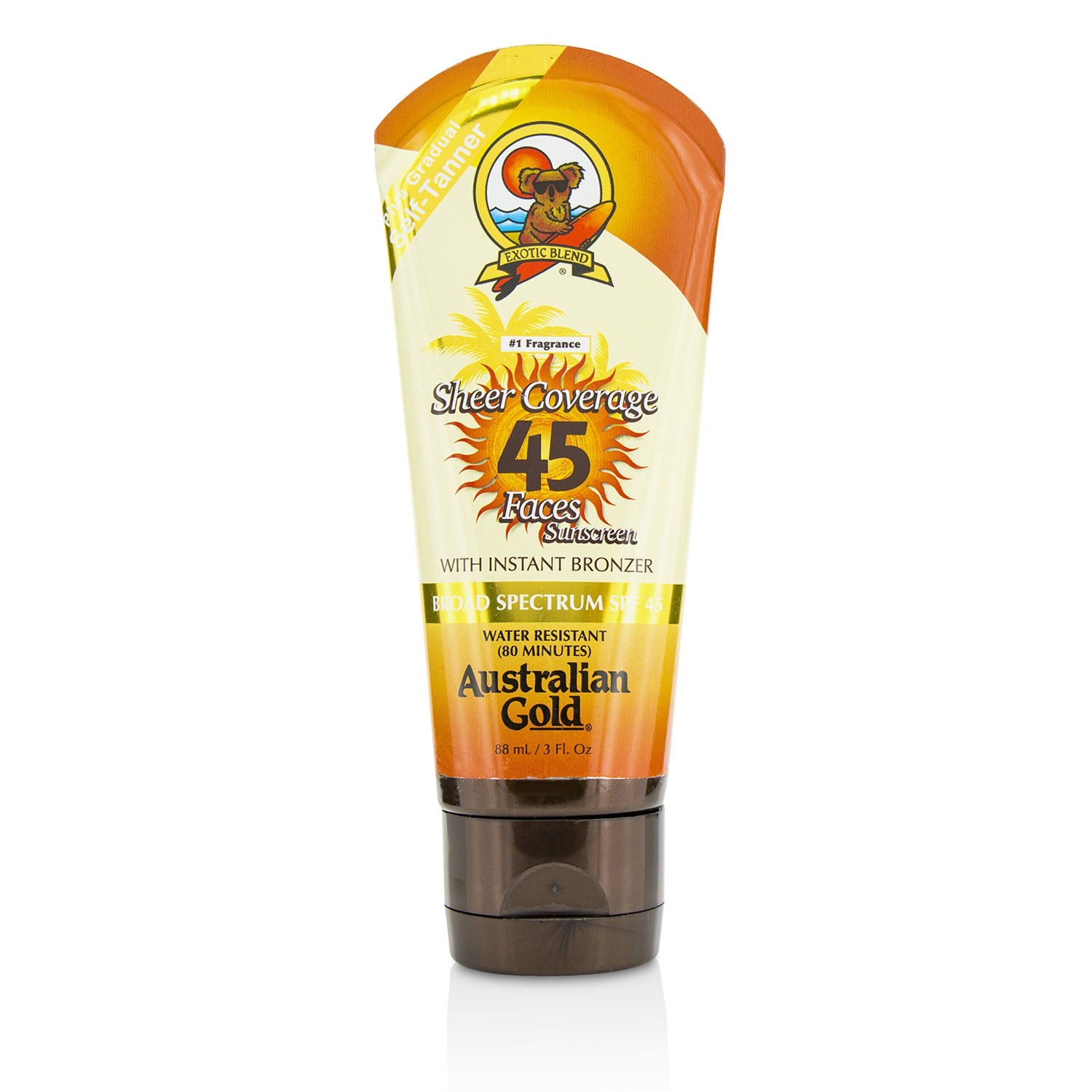 Sheer Coverage Faces Sunscreen SPF 45 With Instant Bronzer  88ml/3oz