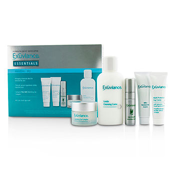 Essentials Kit (Sensitive/ Dry): Cleansing Creme + Eye Complex + Day Creme + Restorative Creme + Antioxidant Serum Exuviance Image
