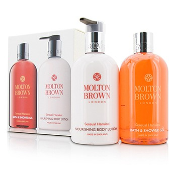 Sensual-Hanaleni-Bath-and-Body-Set:-Bath-andamp;-Shower-Gel-300ml-10oz---Nourishing-Body-Lotion-300ml-10oz-Molton-Brown