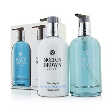 Blue-Maquis-Hand-Care-Set:-Fine-Liquid-Hand-Wash-300ml-10oz---Soothing-Hand-Lotion-300ml-10oz-Molton-Brown