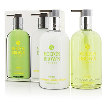 Puritas-Hand-Care-Set:-Fine-Liquid-Hand-Wash-300ml-10oz---Soothing-Hand-Lotion-300ml-10oz-Molton-Brown
