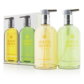 Liquid-Hand-Wash-Set:-Lemon-and-Mandarin-300ml-10oz---Puritas-300ml-10oz-Molton-Brown
