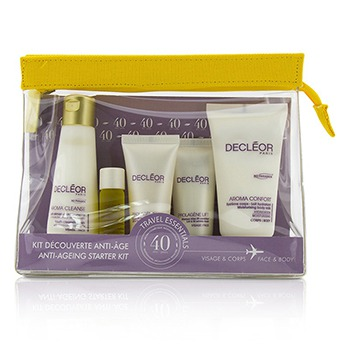 Anti-Aging-Starter-Kit:Cleansing-Milk-50ml-Mask-15ml-Rejuvenating-Serum-5ml-Dry-Skin-Day-Cream-15ml-Body-Milk-50ml-Bag-Decleor