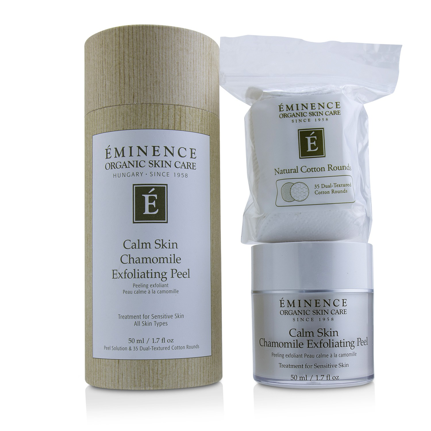 Calm Skin Chamomile Exfoliating Peel (with 35 Dual-Textured Cotton Rounds)