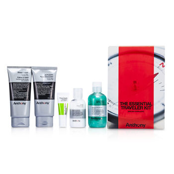 Logistics-For-Men-The-Essential-Traveler-Kit:--Cleanser---Mositurizer---Lip-Blam---Shave-Cream---Hair-and-Body-Wash-Anthony